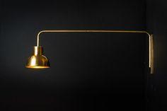 Brass Swing Arm Wall Light