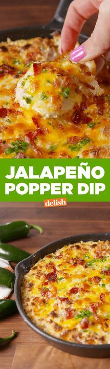 Jalapeño Popper Dip will be the hottest snack at your Super Bowl party. Get the recipe from Delish.com.