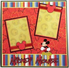 Mickey Mouse and Pluto Premade Scrapbook Pages Paper Piecing
