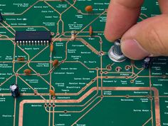 Designed Radio That Resembles The London Underground Map