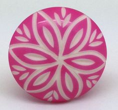 CK677 Pink Resin Flower [CK677] - £3.50 : These Please Ltd