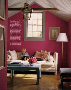Fuschia obsession on pinterest pink curtains pink couch for Fuschia bedroom ideas