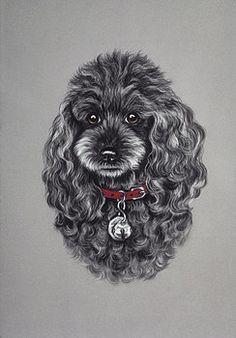 painting miniature black poodle - Google Search