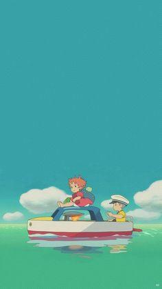 More from PONYO 💜💙💚 Hayao Miyazaki, Animes Wallpapers, Cute Wallpapers, Wallpaper Backgrounds, Aztec Wallpaper, Iphone Backgrounds, Pink Wallpaper, Computer Wallpaper, Screen Wallpaper