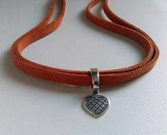 Heart Choker Necklace Love Necklace Heart Collar Short