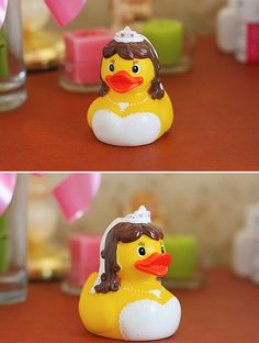 just for giggles. cute rubber ducky wedding cake topper =) it's got my hair!