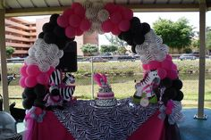 Zebra Baby Shower