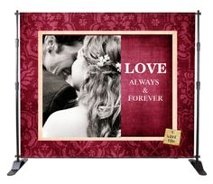 Wedding banner stands are proudly serving the Canadian Wedding Industry with affordable custom designed Wedding Banners Stands, Mini Banner Stands, Wedding Media Walls, Movie Posters, Thank You Cards, Save the Dates Cards and Magnets, Wedding Menu Cards, Bookmarks. All of our Banner Stands and other products include a efficiently created design that setup with ease.