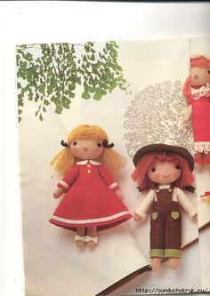 Mimin Dolls: Little Ragdolls FREE Patterns