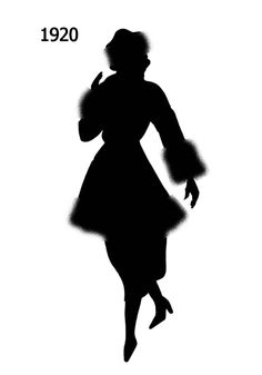 silhouettes from 1920 | Picture of Black Fashion Silhouette 1920