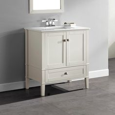 Shop for WYNDENHALL Windham Soft White 2-door 36-inch Bath Vanity Set with Bottom Drawer and White Quartz Marble Top. Get free delivery at Overstock.com - Your Online Furniture Outlet Store! Get 5% in rewards with Club O!