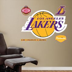 Los Angeles Lakers Logo-Fathead Decal | Set