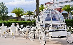 Let your inner princess shine with a romantic getaway ride in Cinderella's Coach