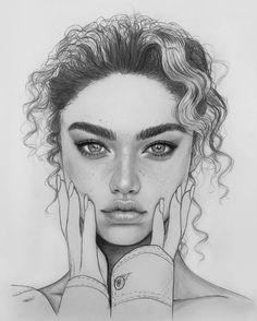 Intense and Beautiful portrait drawing - art corner - drawing - . - Intense and Beautiful portrait drawing – art corner – drawing – - Pencil Portrait Drawing, Portrait Sketches, Pencil Art Drawings, Portrait Art, Drawing Portraits, Face Pencil Drawing, Pencil Sketching, How To Draw Portraits, Girl Face Drawing