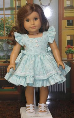 Girl Doll Clothes, Doll Clothes Patterns, Doll Patterns, Clothing Patterns, Diy Clothes, American Girl Dress, American Girls, Ag Dolls, Girl Dolls