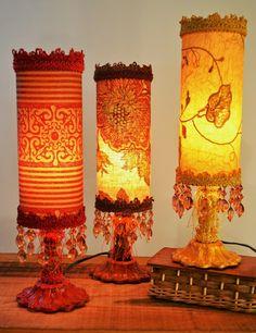 Les Minis, hauteur 12.5 pouces, 85.00$ I Love Lamp, Lamps, Table Lamp, Lighting, Paper, Home Decor, Home, Ideas, Minis