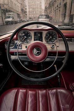 Vintage Merc dashboard