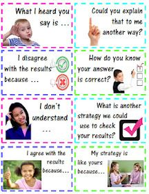 Accountable Math Talk Stems for Students with Questions & Statements - These stems will assist your students in conversation - explaining, justifying, and critiquing their own work, as well as, other students' work. Maths Guidés, Math Classroom, Kindergarten Math, Fun Math, Teaching Math, Classroom Ideas, Teaching Ideas, Preschool, Math Strategies