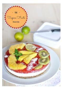 Tropical fruits cheese-cake