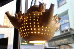 Miscriant: Chocolate Cafe #teapot #lamp