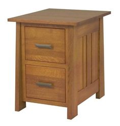 Freemont Mission File Cabinet Attractive solid wood storage to enhance your office and add to an organized look. Available with choice of 2, 3, or 4 drawers. Choice of wood and finish.