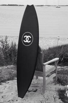 ♥ #Chanel #beach #surf #board