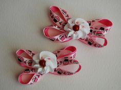 Set of 2 Cupcake and Icing Hairclips Deisgn 1 by stayhomecupcake, $8.00