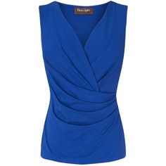 Phase Eight Christina Wrap Top, Cobalt found on Polyvore
