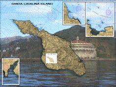 Avalon At Santa Catlina Island Nautical Chart Sailcloth Print