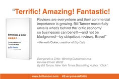 "Thank you Ken Cukier (author of ""Big Data"") for sharing your kind words on the book jacket of #EveryonesACritic, the second book from Bill Tancer. www.billtancer.com"