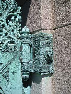 Hinge detail - Getty Tomb, Graceland Cemetery, Chicago. - Designed by Louis Sullivan by snkh53a, via Flickr