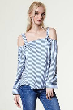 Shaddy Cold Shoulder Top Discover the latest fashion trends online at storets.com
