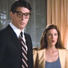 DC Comics in film - 1983 - Superman 3 - Christopher Reeve as Clark Kent & Annette O'Toole as Lana Lang ®. First Superman, Batman Y Superman, Superman And Lois Lane, Superman Family, Superman Artwork, Superman Stuff, Annette O'toole, Christopher Reeve Superman, Lana Lang