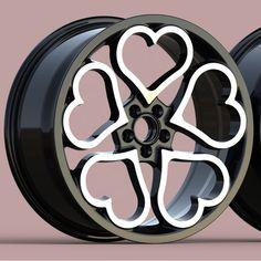 Fancy Cars, Cute Cars, Girly Car, Cute Car Accessories, Street Racing Cars, Rims For Cars, Pretty Cars, Car Mods, Hello Kitty