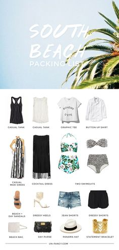 what to pack for a week at the beach via unfancy
