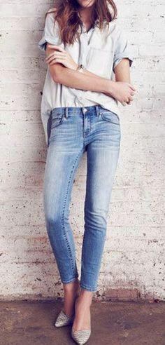 Skinny crop jeans //