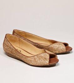 MIA Madira Peep-Toe Flat in brown AE