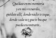 〽️️️️️Quédate en mi memoria y en mis recuerdos...