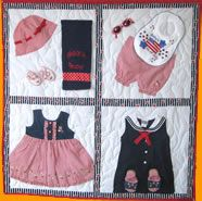 baby quilts made with your childs old baby clothes...loooove it