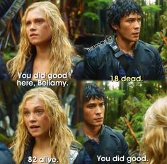 // Bellamy and Clarke // The 100 // The CW //