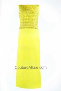 jacqueline kennedy, chartreuse evening gown by Oleg Cassini 1962
