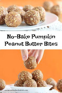 Peanut Butter Bites, Healthy Bars, Baked Pumpkin, Energy Bars, Cereal, Treats, Cookies, Baking, Breakfast
