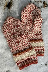 Additional Yarn Information 1 skein each lamb's brown and cream, partial skein yellow-green, and small amount contrast waste yarn. Knitted Mittens Pattern, Knit Mittens, Knitted Gloves, Knitting Socks, Knitting Patterns, Crochet Patterns, Wrist Warmers, Hand Warmers, Fair Isle Knitting