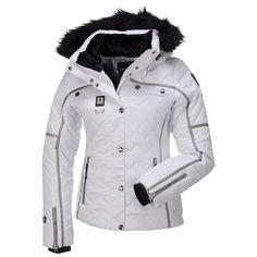 $124 Size 44-48 IcePeak, Ofra-I, Wadded Ski Jacket, Women, Optic White