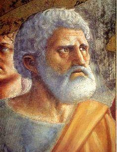 Masaccio y Masolino Lippi PINTURA un pastel de la Capilla Brancacci, Florencia
