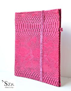 Planner organiseur pour feuilles A5, souple, simili cuir Dragon rose fuchsia. Planner for sheet A5, 6 rings, flexible binder. French organizer. Faux Leather and cotton. http://shirleyzepap.com/