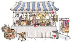 Flohmarkt Stand Aufbau