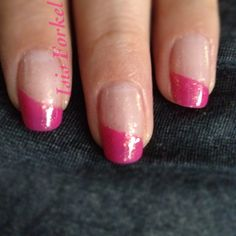 Angled French Mani using Essie: Secret Story & As Gold As It Gets Luxeffects.