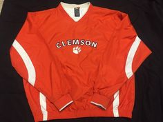 "Vintage Starter "" Clemson Tigers Pull Over Sweater Windbreaker Sz L | eBay"