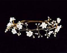 floral wedding tiara